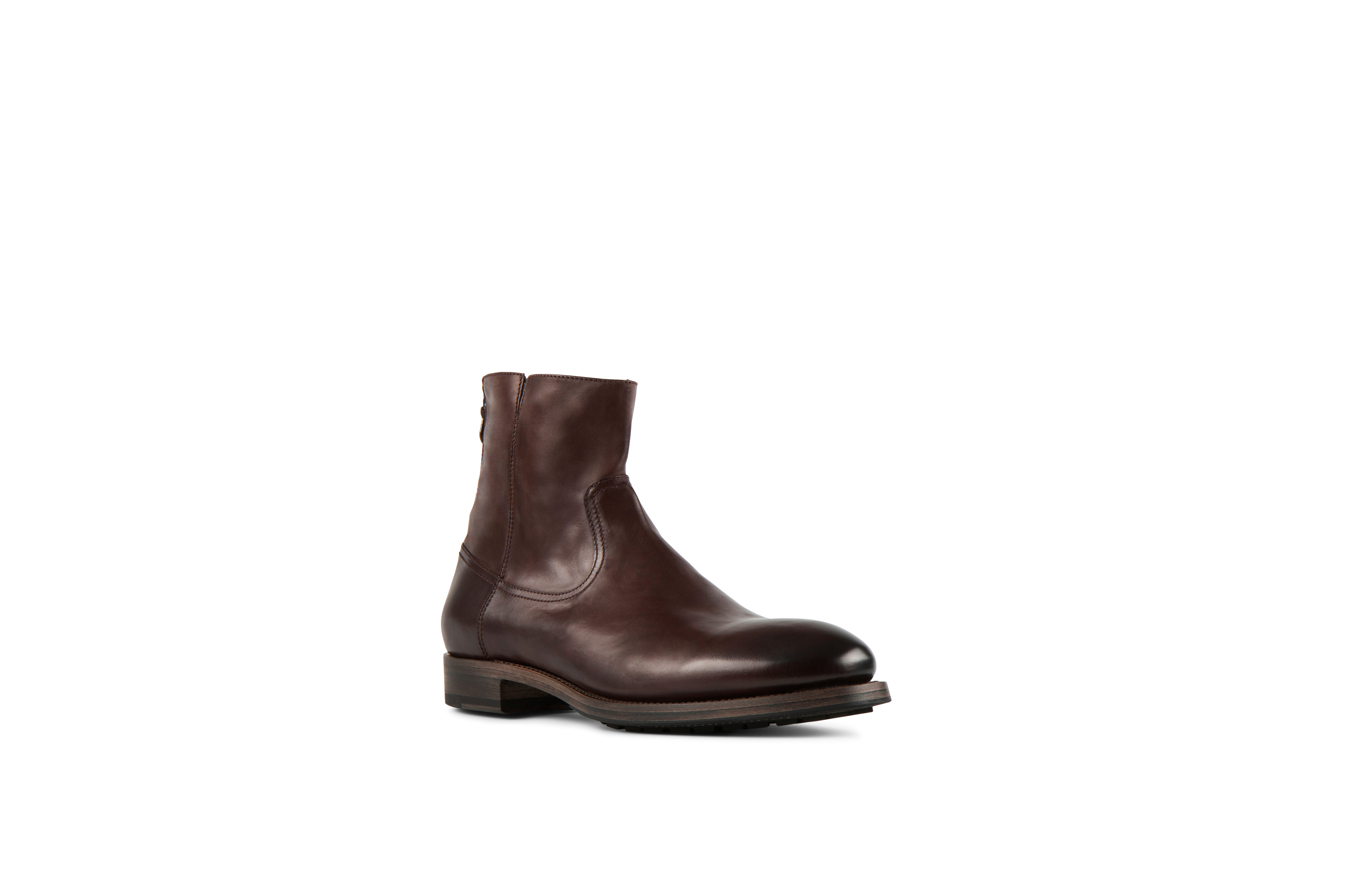 Flame Tmoro Soft Cordovan Leather Zipper Boots
