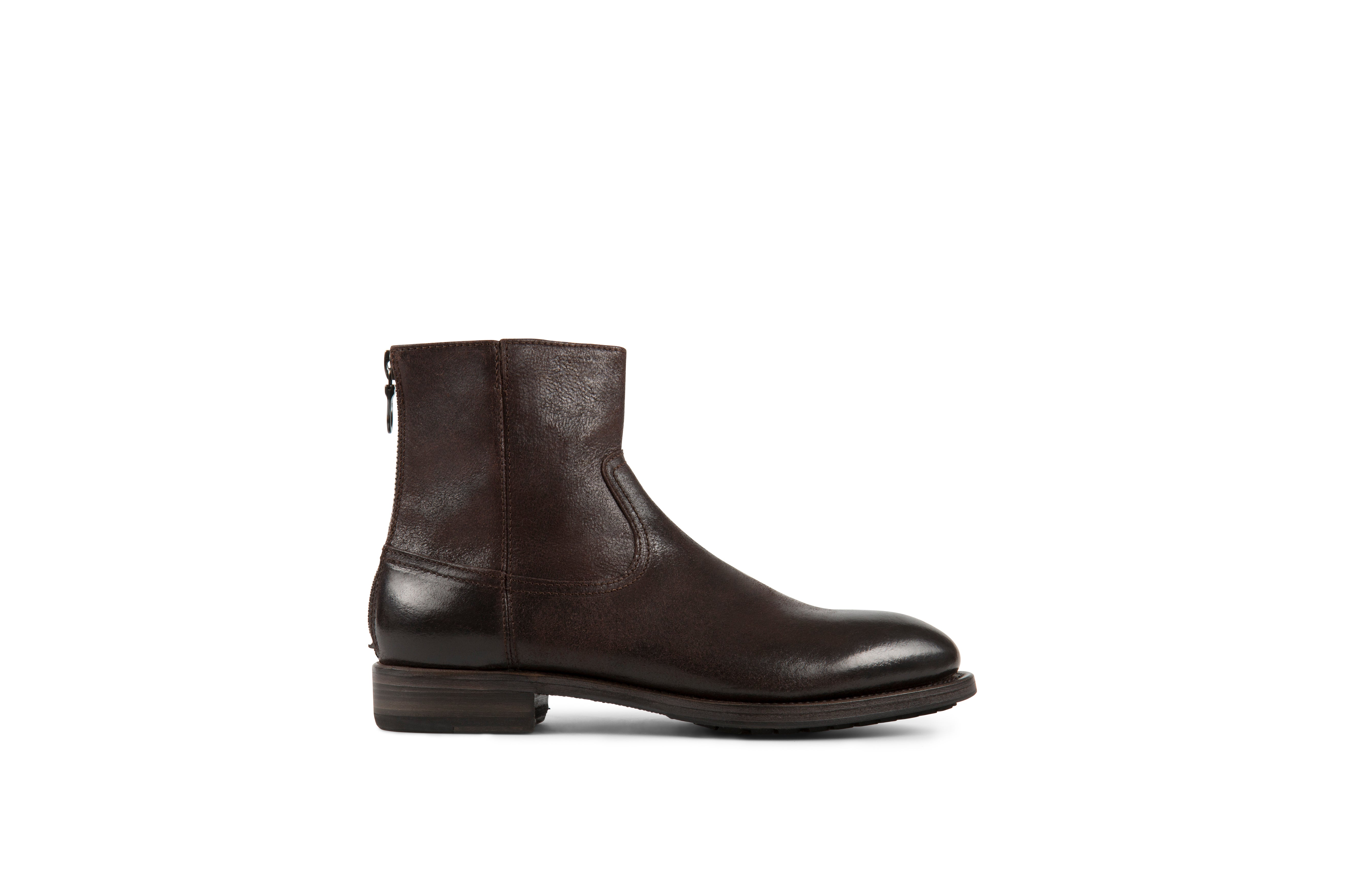Flame Tmoro Reversed Cordovan Leather Zipper Boots
