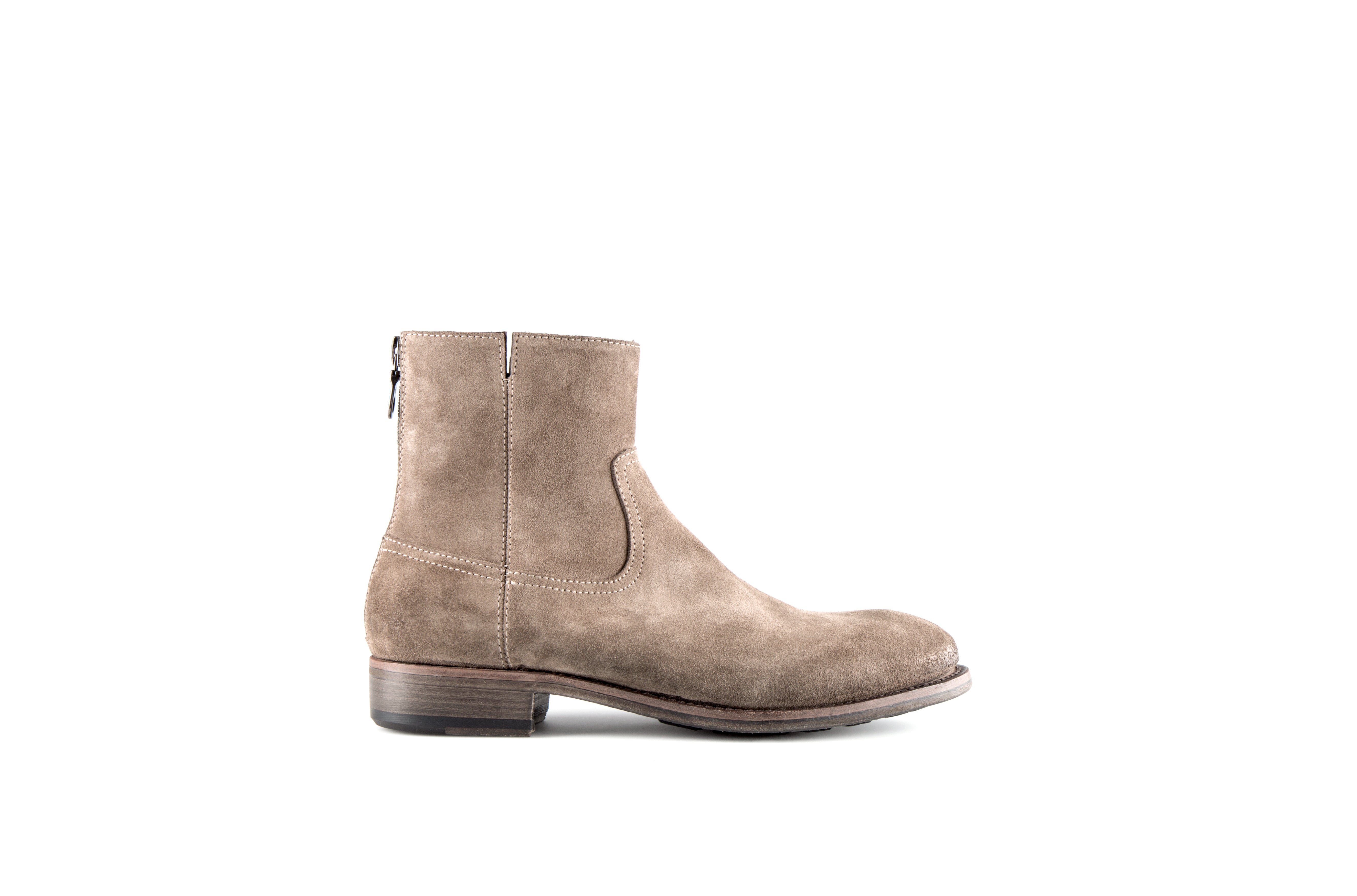 Flame Sand Suede Leather Zipper Boot