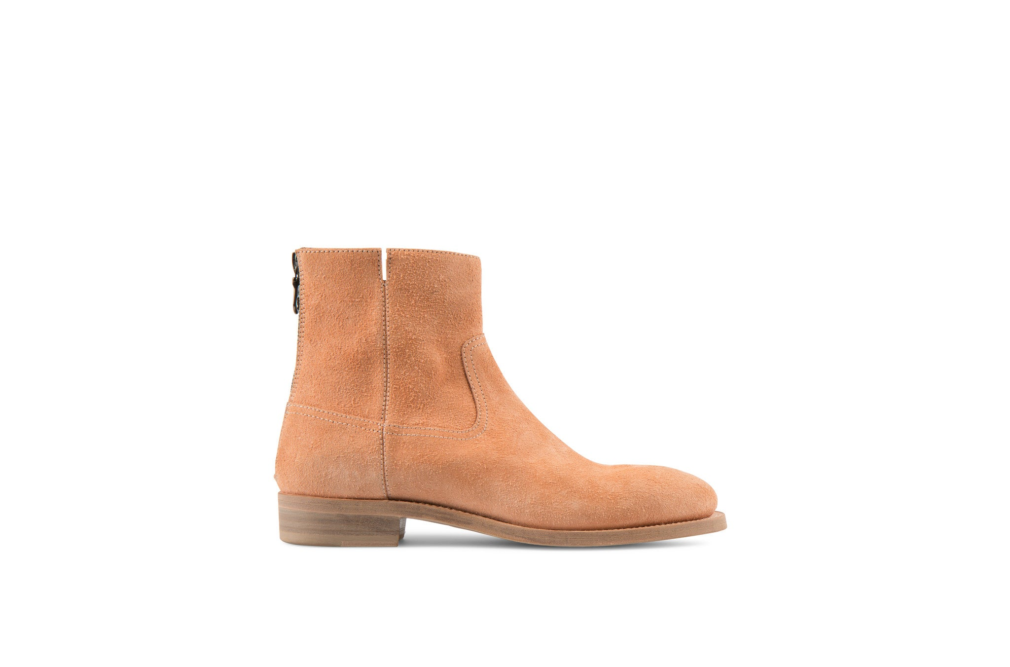 Flame Sand Tärnsjö Eco Suede Leather Zipper Boots