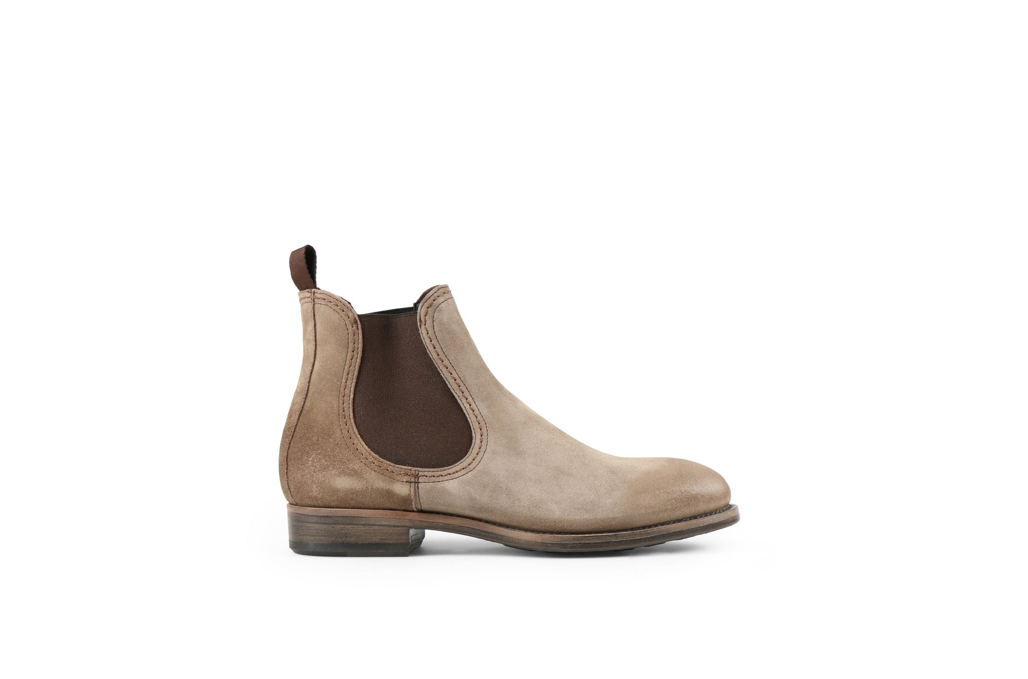 Hanoi Sand Suede Leather Chelsea Boots