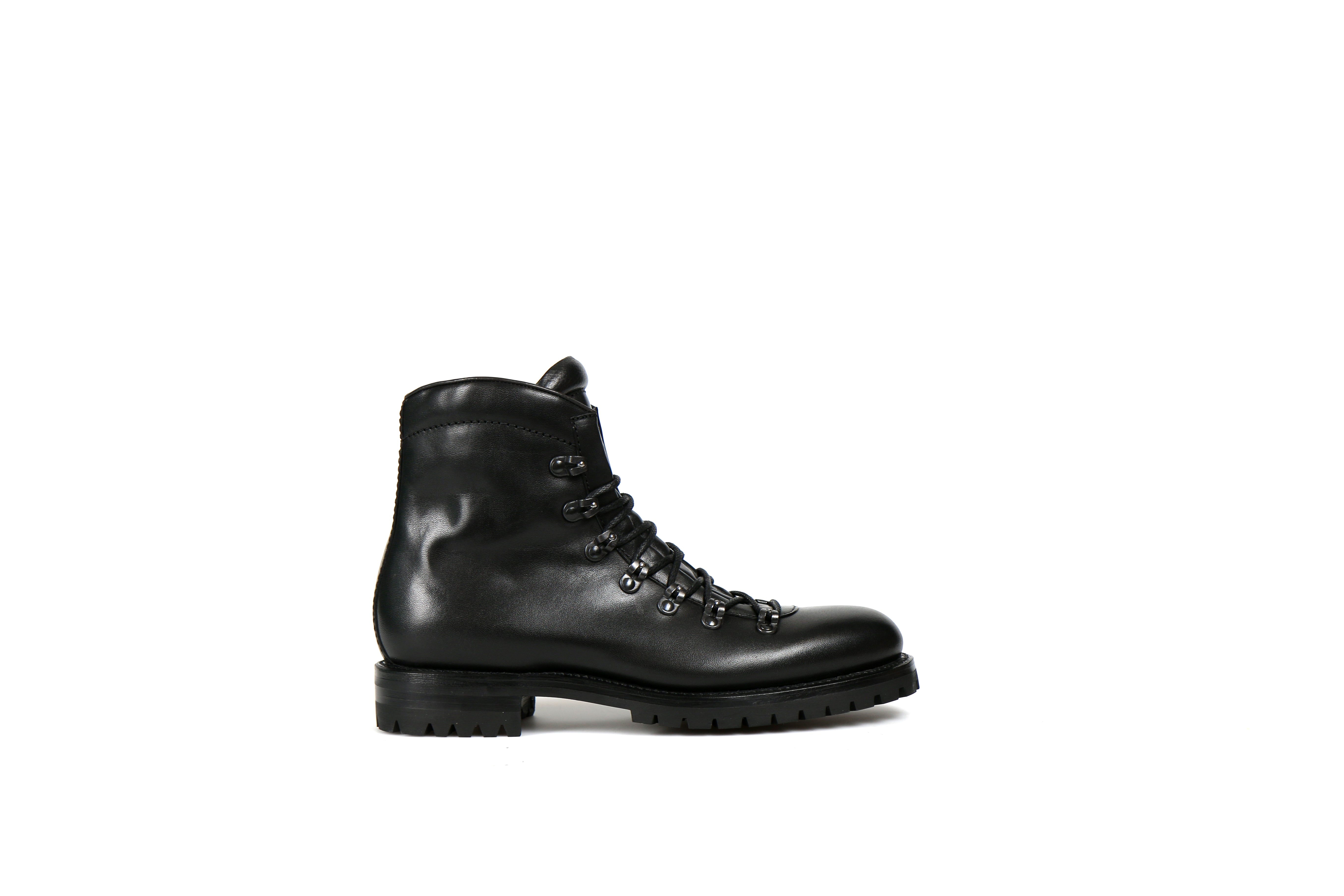 Kings Black Cordovan Leather Hiking Boot