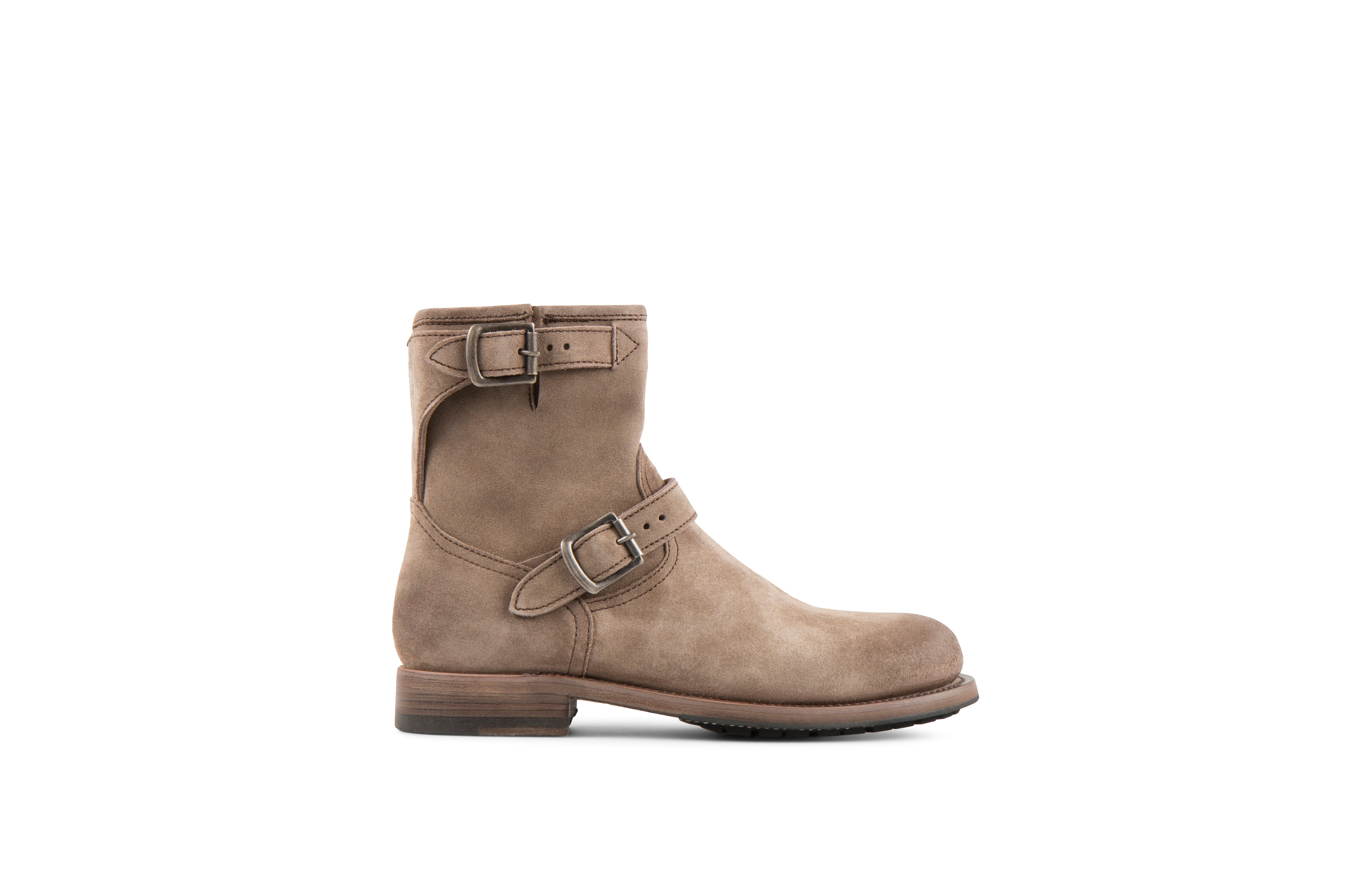 Lowrider Sand Suede Leather Rock Boots