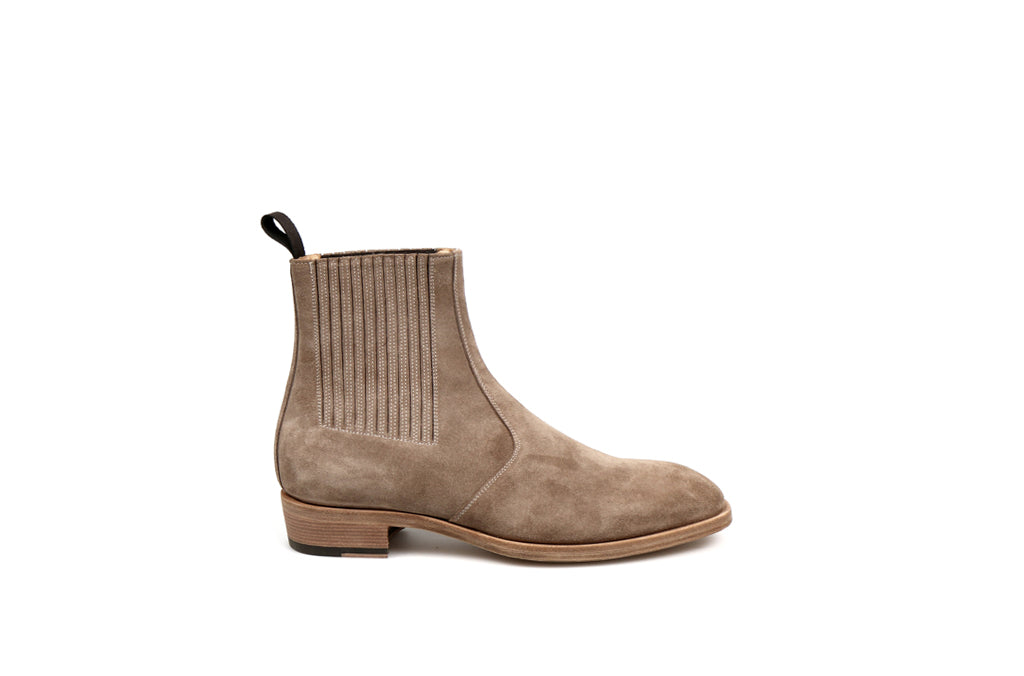 Jay Sand Suede Chelsea Leather Boots