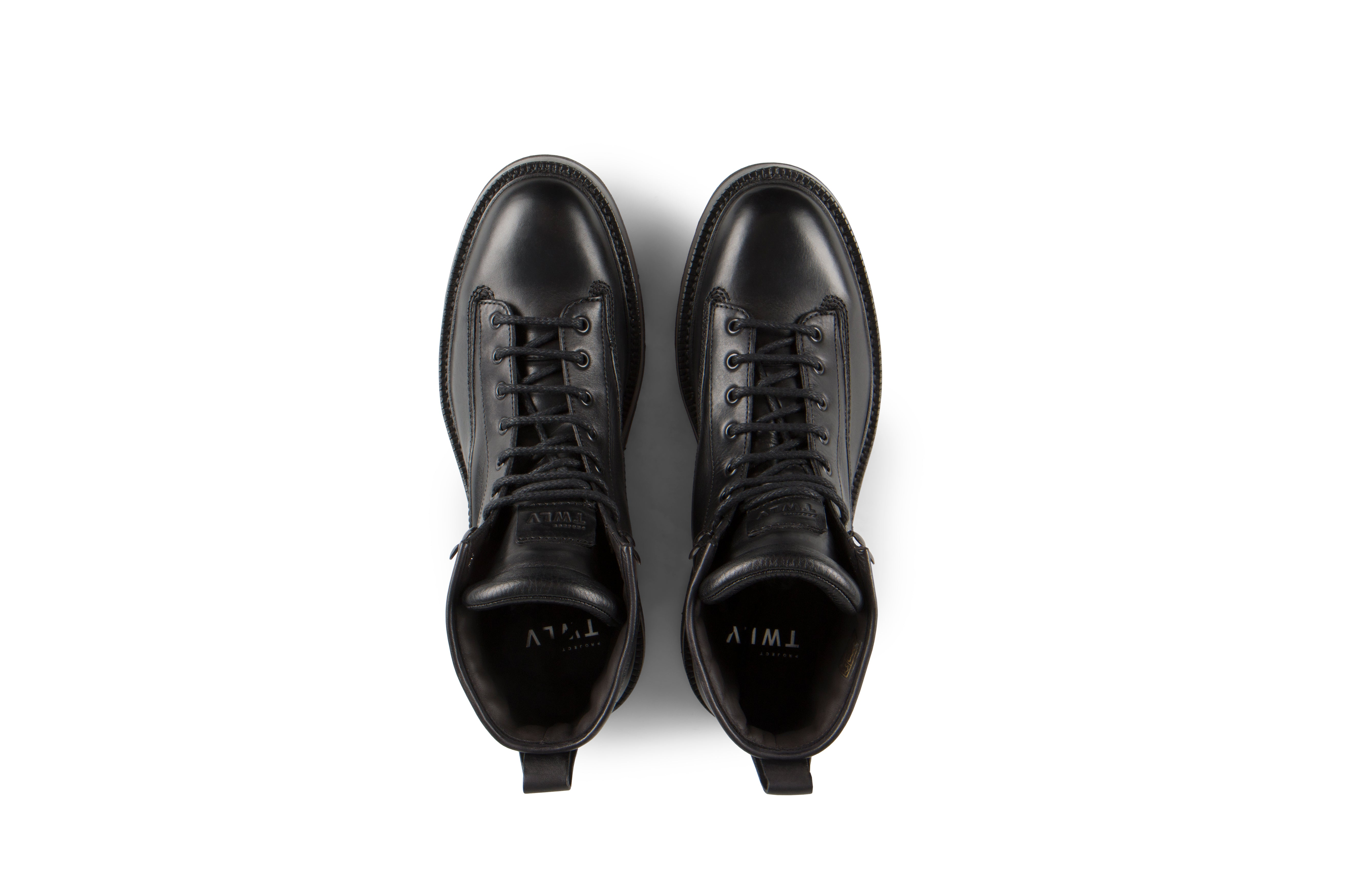 New Season - Nexx Black Vegetable Tanned Balmoral Leather Boots