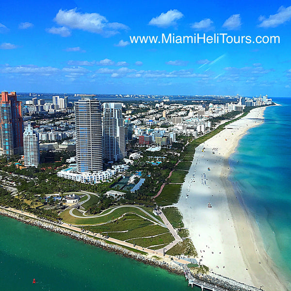 Miami HeliTour for 2 Persons over South Beach (Private HeliTour)