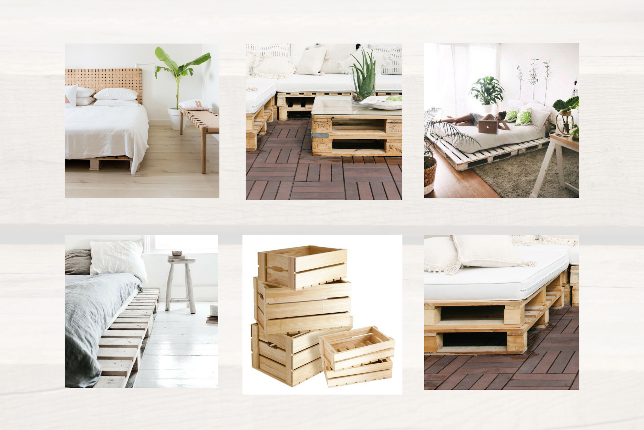 Pallet Bed Crates Bed Frame Simple