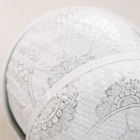 Mandala Round Storage Baskets Silver & White: Alternate View #4