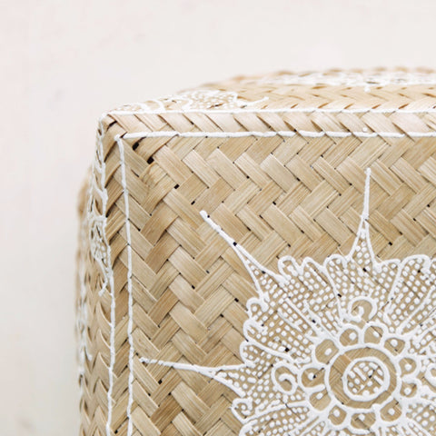 Mandala Rattan Boxes: Alternate View #4