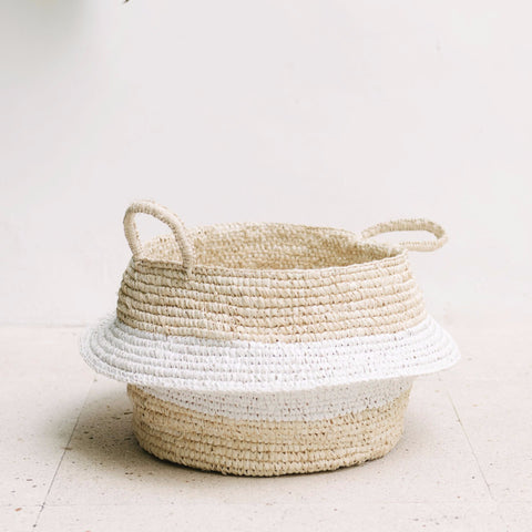 Raffia and Plastic Collapsable Baskets (set of 2): Alternate View #4