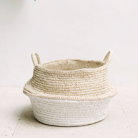 Raffia and Plastic Collapsable Baskets (set of 2): Alternate View #5