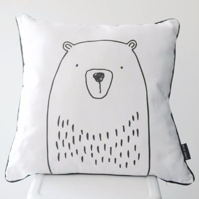 MONOCHROME CUSHION - BEAR