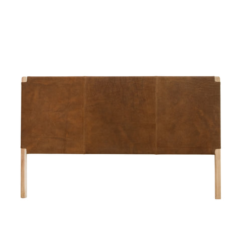 Bella Leather Headboard Tan