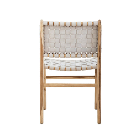 Bali Statement Dining Chair - White Leather: Alternate View #9