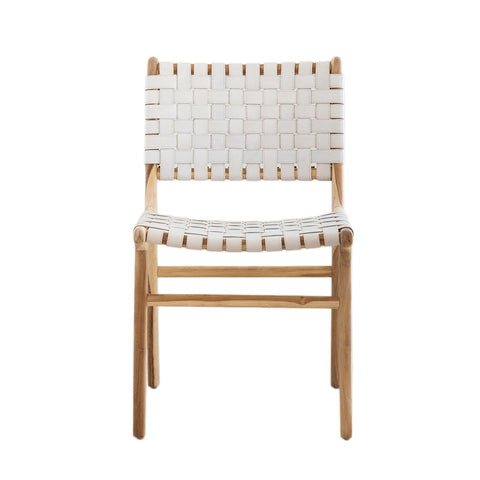 Bali Statement Dining Chair - White Leather: Alternate View #10