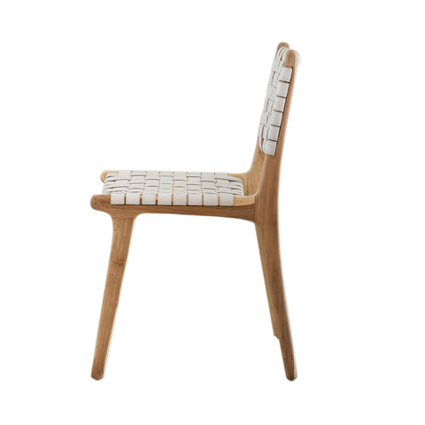 Bali Statement Dining Chair - White Leather: Alternate View #11