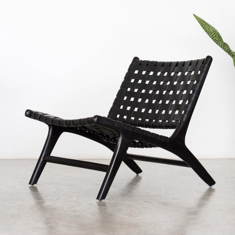 Bali Statement Lounger Black