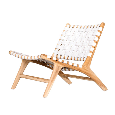 Bali Statement Lounger White: Alternate View #1