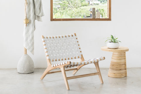 Bali Statement Lounger White: Alternate View #10