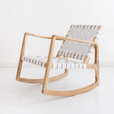 Beau Rocking Chair - White: Alternate View #2