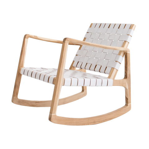 Beau Rocking Chair - White
