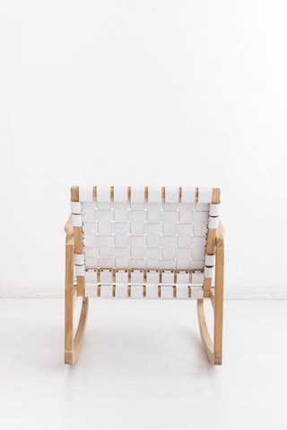 Beau Rocking Chair - White: Alternate View #6
