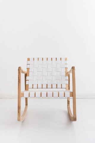 Beau Rocking Chair - White: Alternate View #3