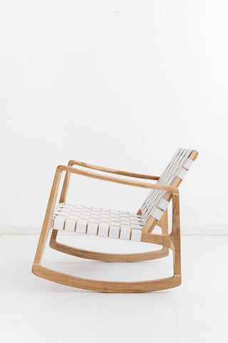 Beau Rocking Chair - White: Alternate View #4