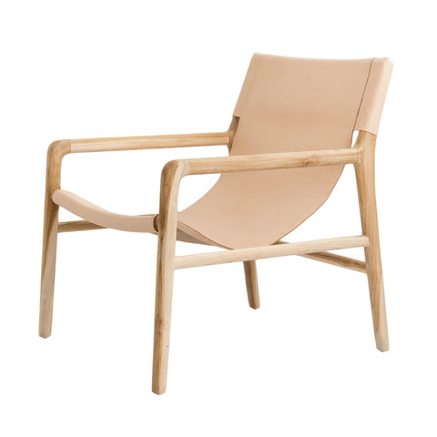 Bella Armchair - Blush Leather: Alternate View #1
