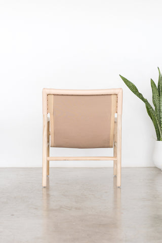 Bella Armchair - Blush Leather: Alternate View #6