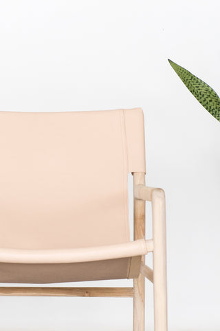 Bella Armchair - Blush Leather: Alternate View #8