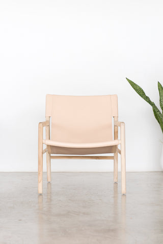 Bella Armchair - Blush Leather: Alternate View #3