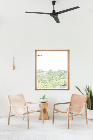 Bella Armchair - Blush Leather: Alternate View #9