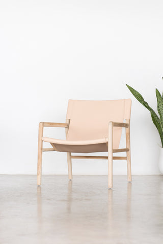 Bella Armchair - Blush Leather: Alternate View #4