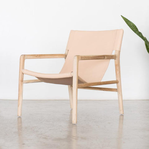 Bella Armchair - Blush Leather: Alternate View #2