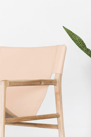 Bella Armchair - Blush Leather: Alternate View #7