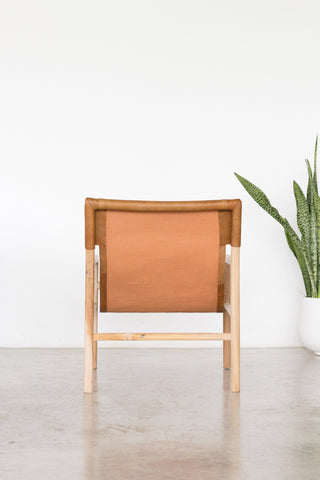 Bella Armchair - Tan Leather: Alternate View #4