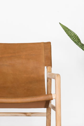 Bella Armchair - Tan Leather: Alternate View #6