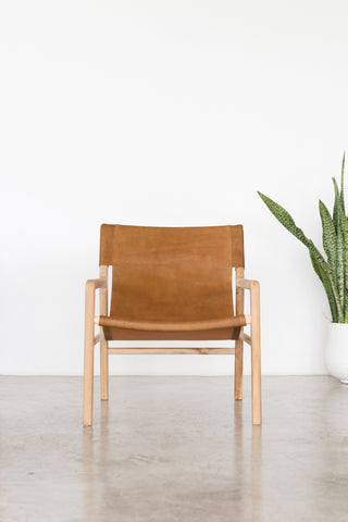 Bella Armchair - Tan Leather: Alternate View #3