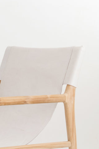 Bella Armchair - White Leather: Alternate View #4
