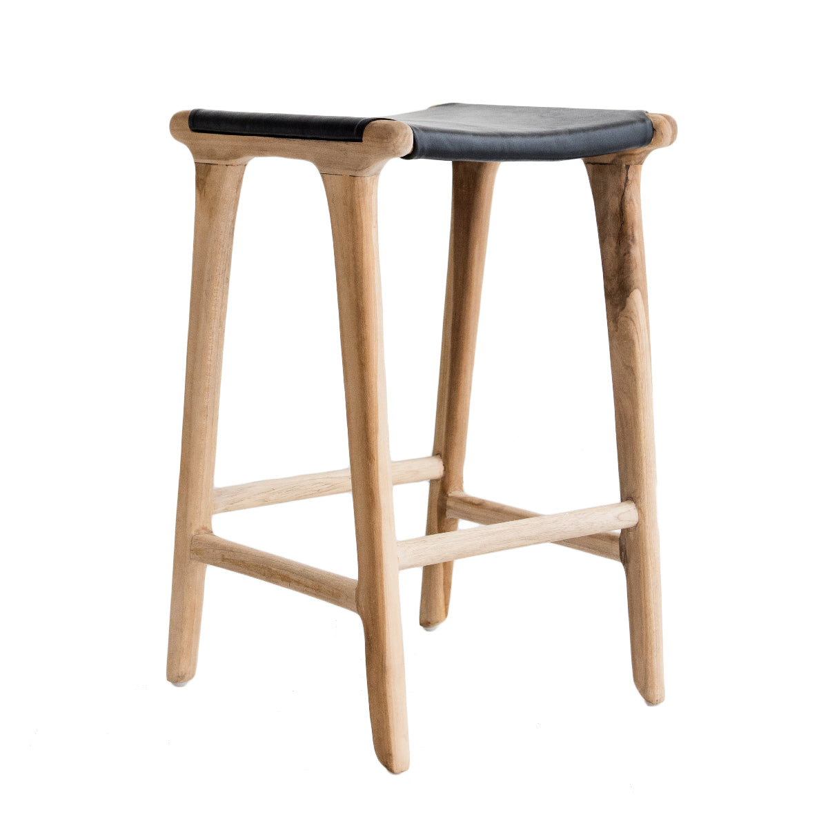 Bella Bar Stool - Black Leather