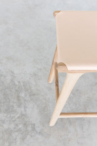Bella Bar Stool - Blush Leather: Alternate View #9