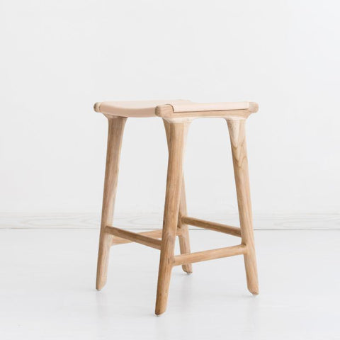 Bella Bar Stool - Blush Leather: Alternate View #2
