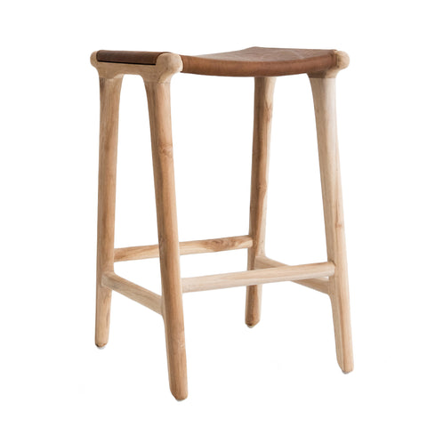 Bella Bar Stool - Tan Leather
