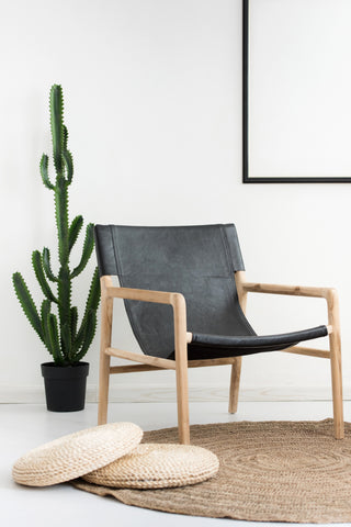 Bella Armchair - Black Leather: Alternate View #8