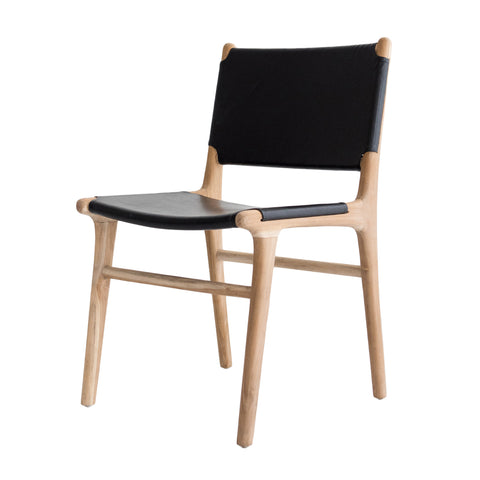 Bella Dining Chair - Black Leather