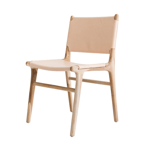 Bella Dining Chair - Blush Leather