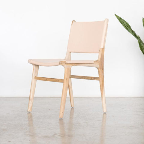 Bella Dining Chair - Blush Leather: Alternate View #12