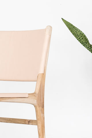 Bella Dining Chair - Blush Leather: Alternate View #5