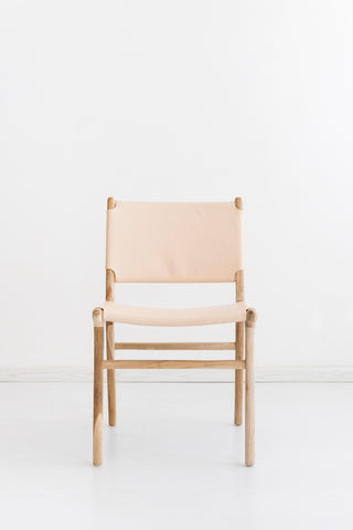 Bella Dining Chair - Blush Leather: Alternate View #3